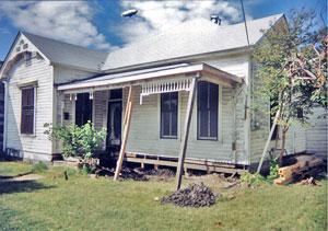 Miss Mercado's home before repairs.