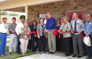 Ribbon-cutting for Fenner Square Apartments in Goliad, Texas