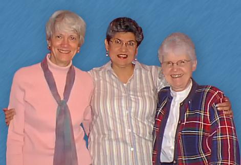 Sister Dorothy Ettling, CCVI, Maria Antonietta Berriozábal, Sister Jane Ann Slater, CDP