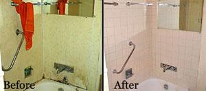 Bathroom repairs made through the Owner-Occupied Repair Program