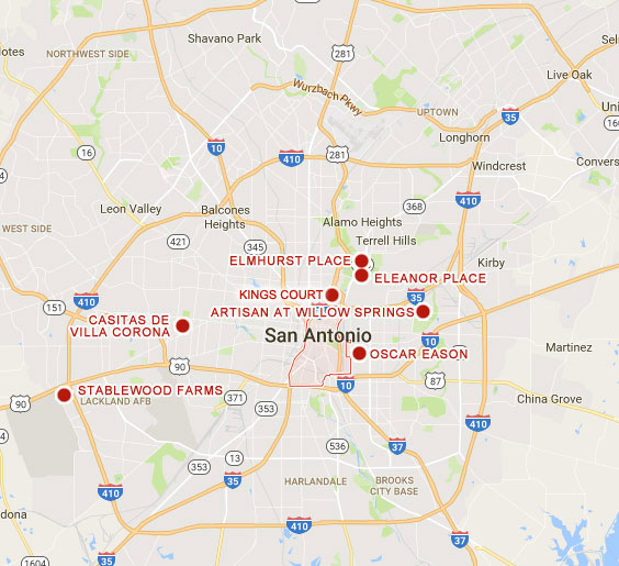 San Antonio Texas Map San Antonio – Merced Housing Texas